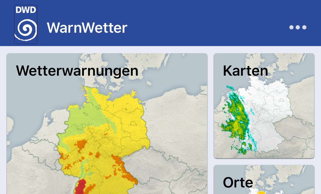 Warnwetter App