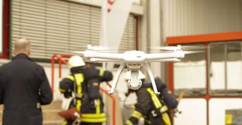 Feuerwehr Drohne