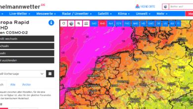 Webseiten für Wetterlagen